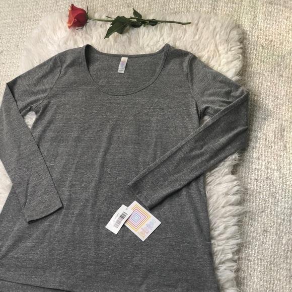 LuLaRoe Tops - NWT LulaRoe Lynnea Grey High Low Shirt